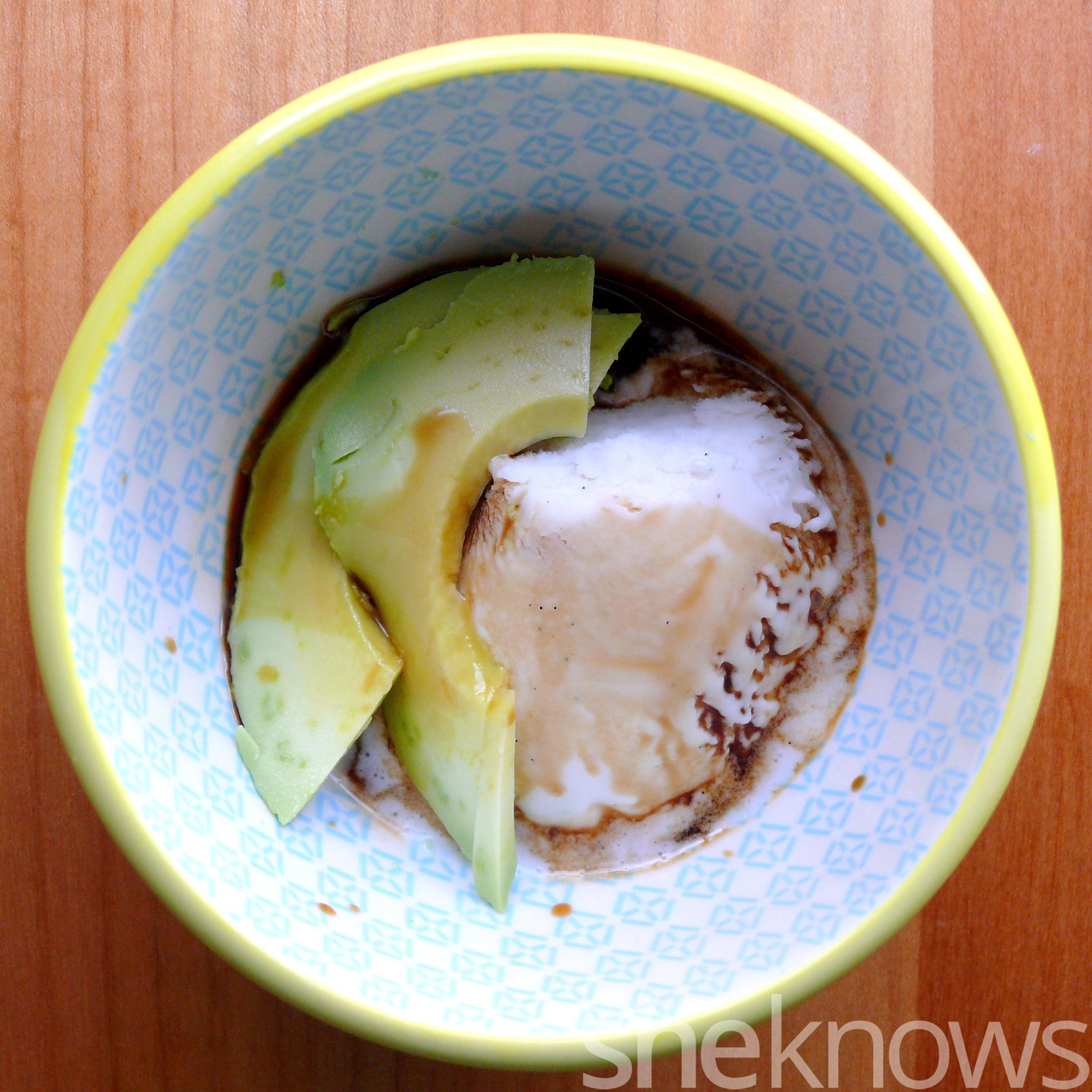 avocado ice cream balsamic vinegar