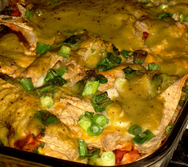 avocado enchilada casserole
