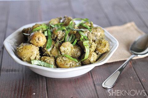 avocado pesto potato salad