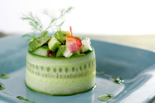 Avocado starter salad