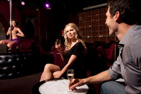 Strip club with your man: Risqué