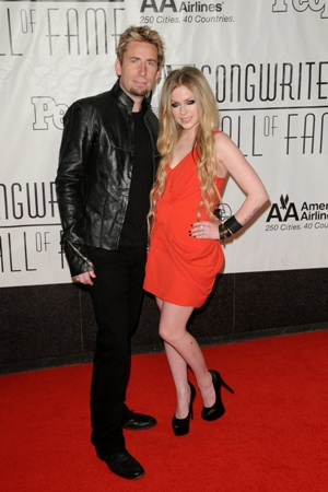 Avril and New Hubby Chad Kroeger