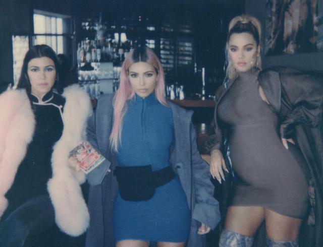Kourtney, Kim and Khloé Kardashian pose together in Kyoto, Japan