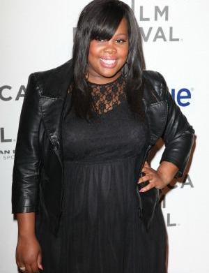 Amber Riley's scary red carpet moment