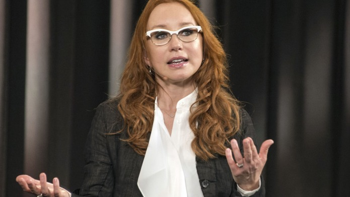 Singer Tori Amos speaks during 'Meet