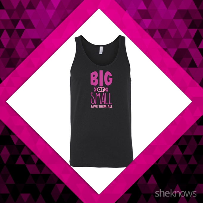 Big or small, save them all, breast cancer shirt