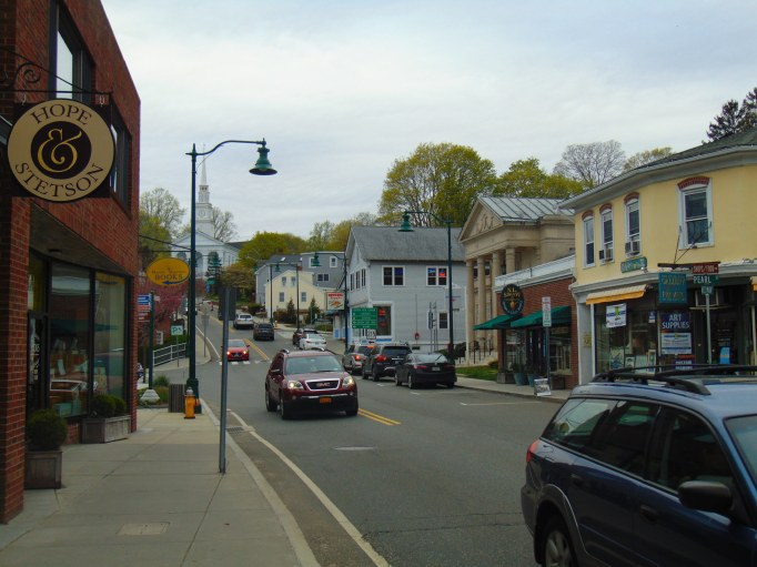 Street view of the town of Mystic, Connecticut