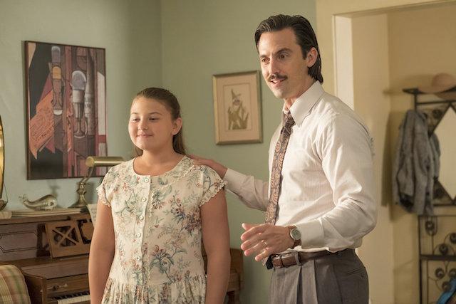 Still of Milo Ventimiglia and Mackenzie Hancsicsak from 'This Is Us'