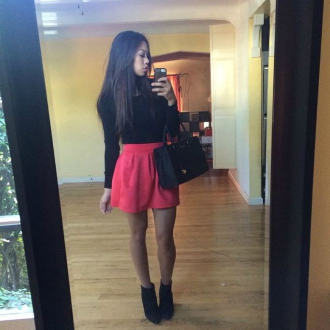 ankle-booties-high-waisted-skirt