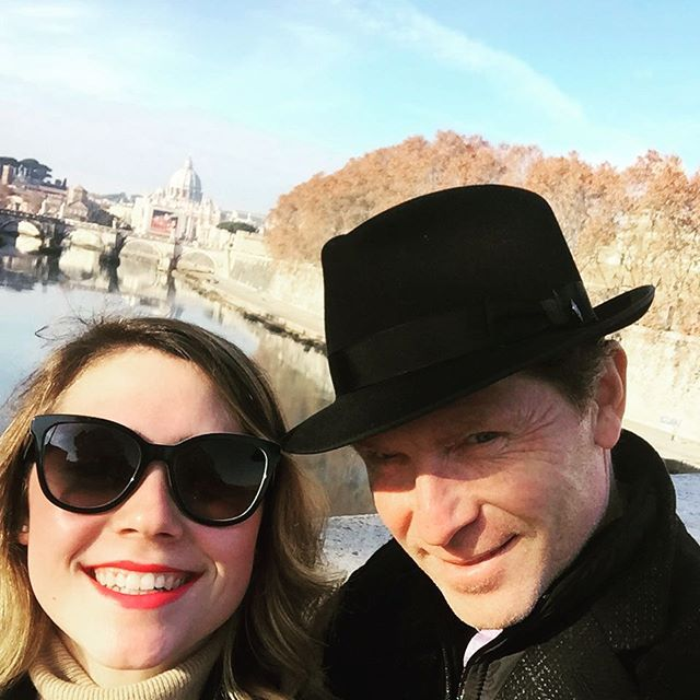 Bobby Flay and daughter Sophie in Rome