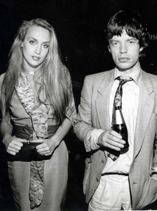 Mick Jagger and Jerry Hall 1970s