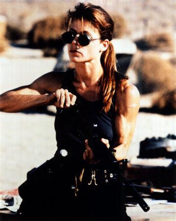 Linda Hamilton as Sarah Connor in