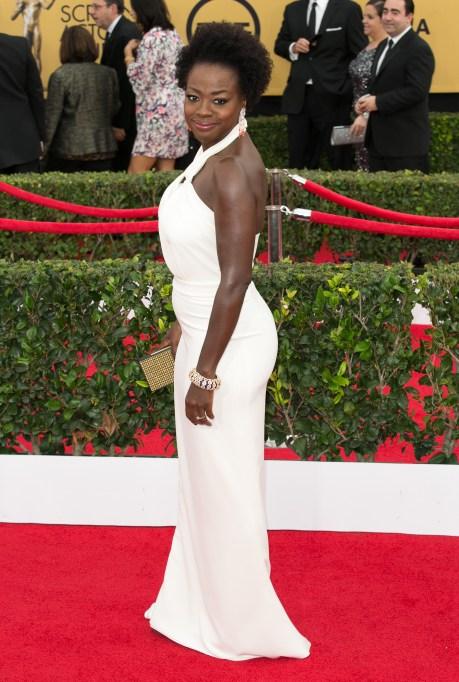 Viola Davis red carpet looks: 2015 SAG Awards