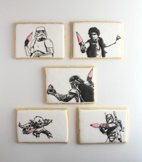 Star Wars cookie art