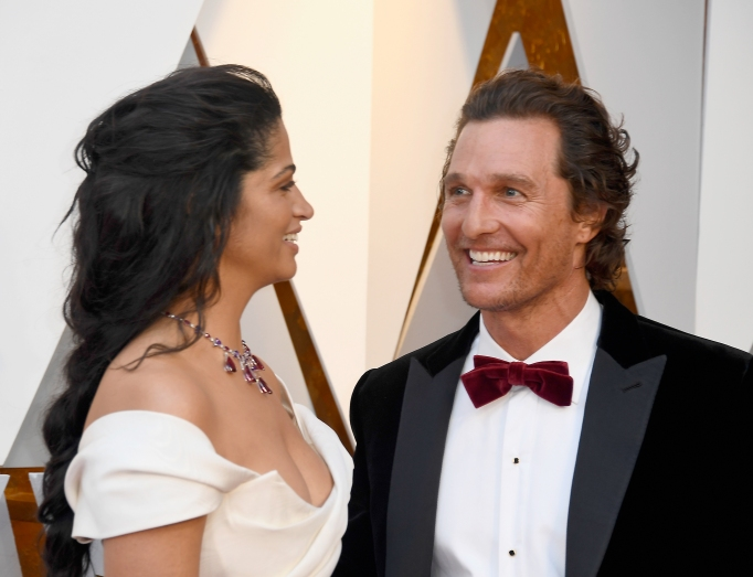 Matthew McConaughey, Camila Alves at Oscars 2018