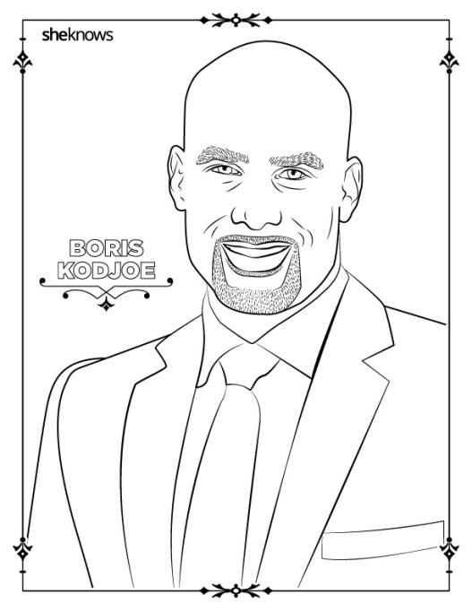 Boris Kodjoe coloring book page