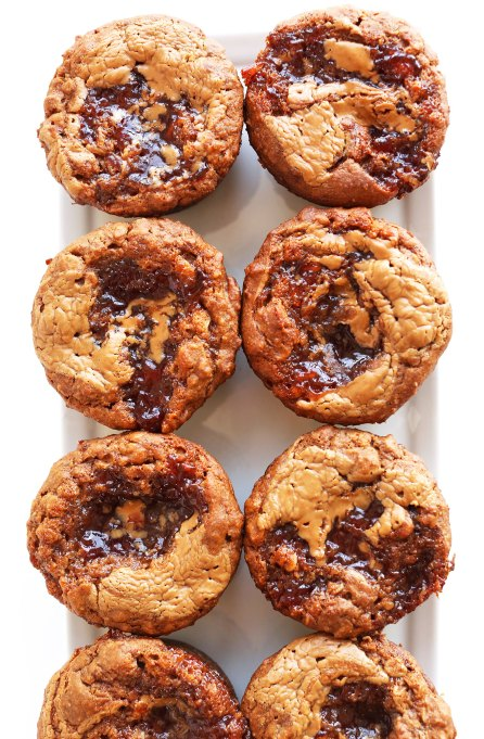 Peanut butter-jelly muffins