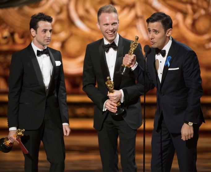 Justin Hurwitz, Benj Pasek, & Justin Paul Oscars 2017