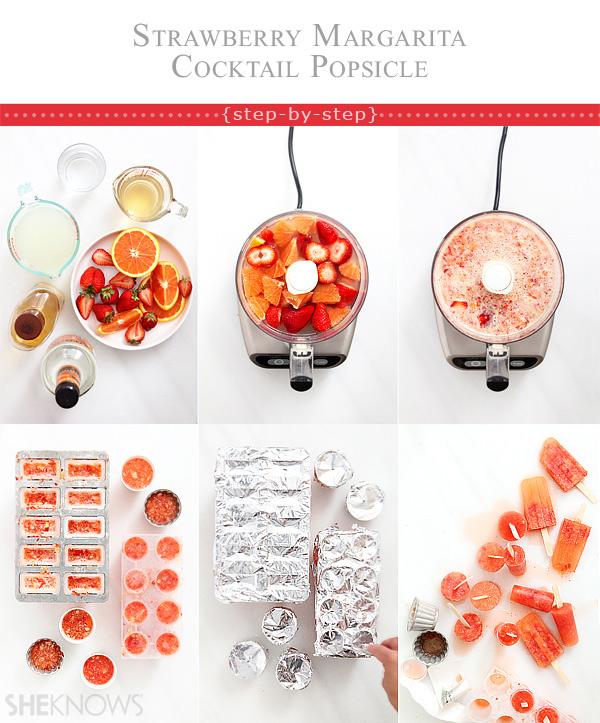 strawberry margarita cocktail popsicle tutorial