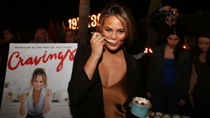 MIAMI BEACH, FL - FEBRUARY 26:  Chrissy Teigen attends Fireman Derek's Midnight Breakfast hosted by Chrissy Teigen during 2016 Food Network & Cooking Channel South Beach Wine & Food Festival Presented By FOOD & WINE at National Hotel on February 26, 2016 in Miami Beach, Florida.  (Photo by Aaron Davidson/Getty Images For SOBEWFF)