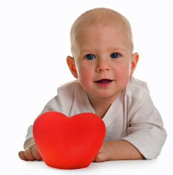 baby boy valentine heart