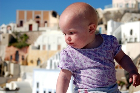 Baby in Greece