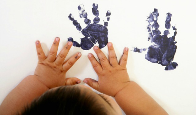 How To Get A Clean Stamp Of Your Babys Handprint Sheknows