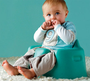 Baby in bumbo seat