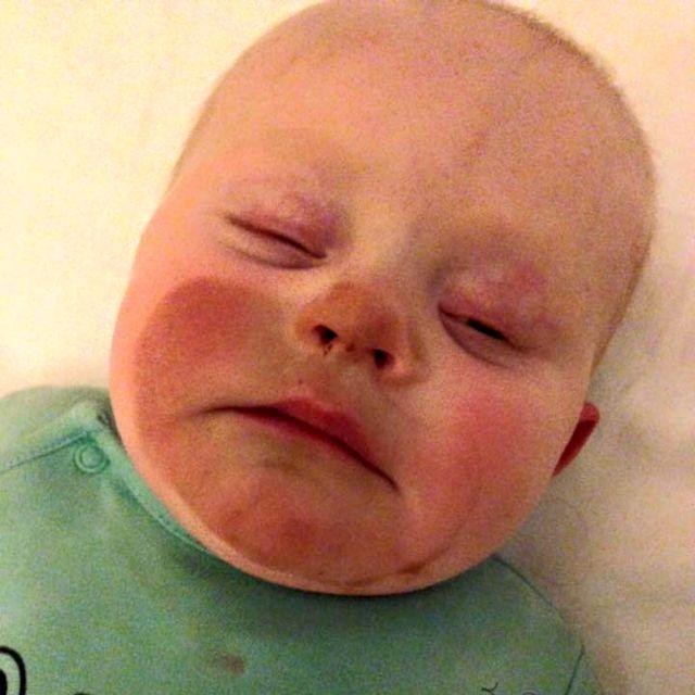 Epic baby spray tanning breastfeeding fail