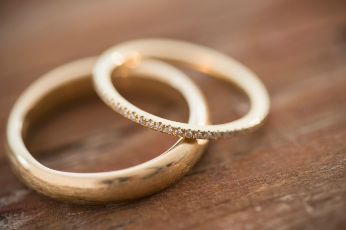Studio shot of wedding rings