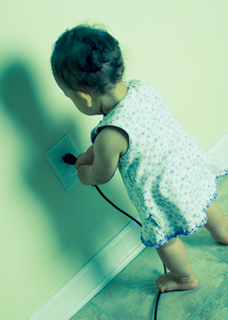 Baby and Electrical Cable