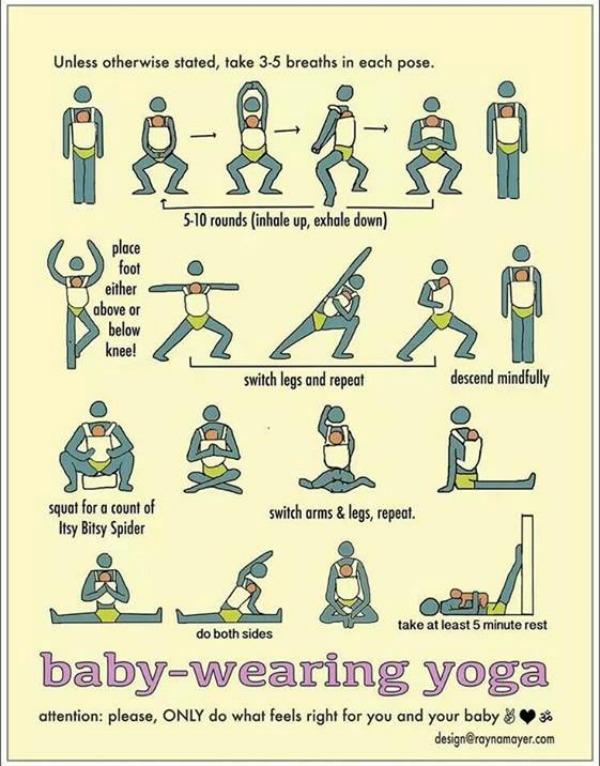 Baby wearing yoga