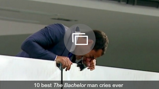 Jason Mesnick crying on The Bachelor