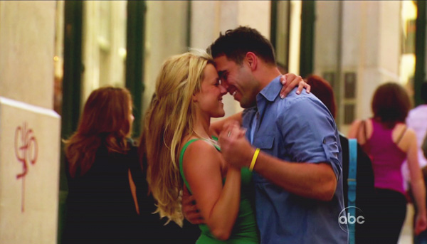 Bachelorette Ali Fedotowski dances with beau Roberto