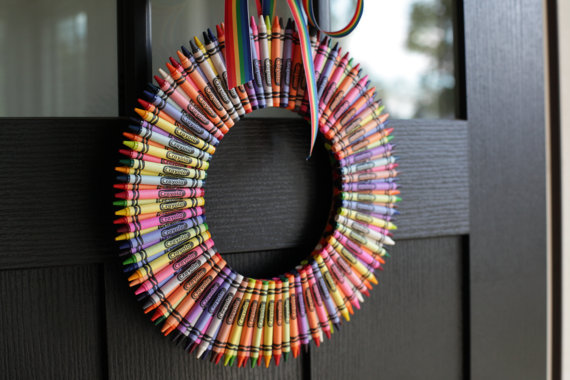 Crayon wreath | Sheknows.com