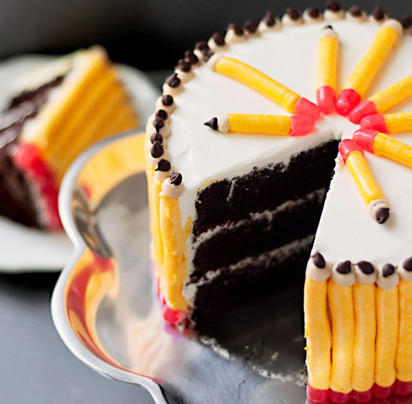 Pencil shaped cake