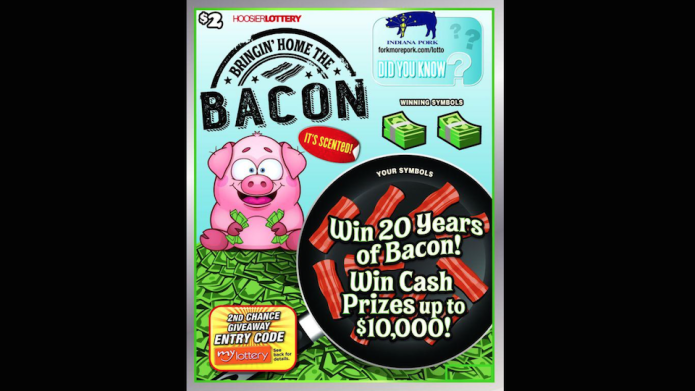 Bacon-scented scratch-offs make the lottery worth