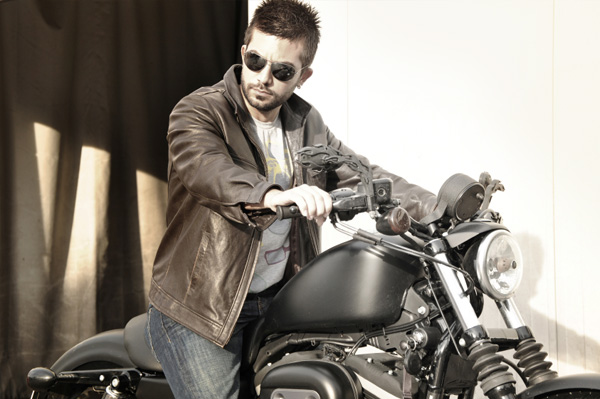 Bad boy on motorcycle