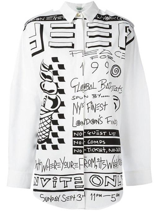 Ways To Wear Graphic Prints: Kenzo shirt, at Farfetch | Fall Fashion