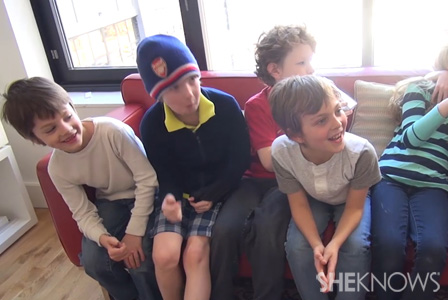 What happens when you interview a group of boys on what the word bossy means to them?