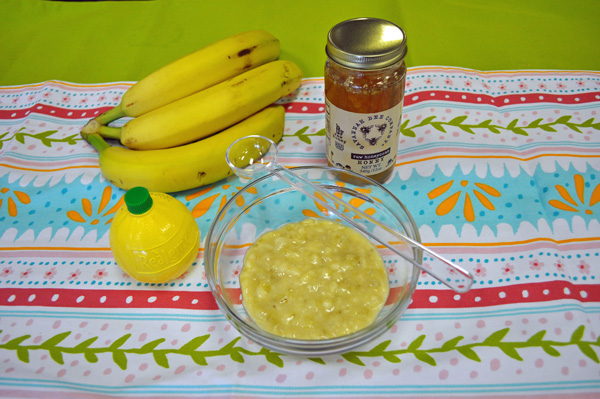 Banana lemon honey face mask