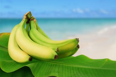 Banana on the beach