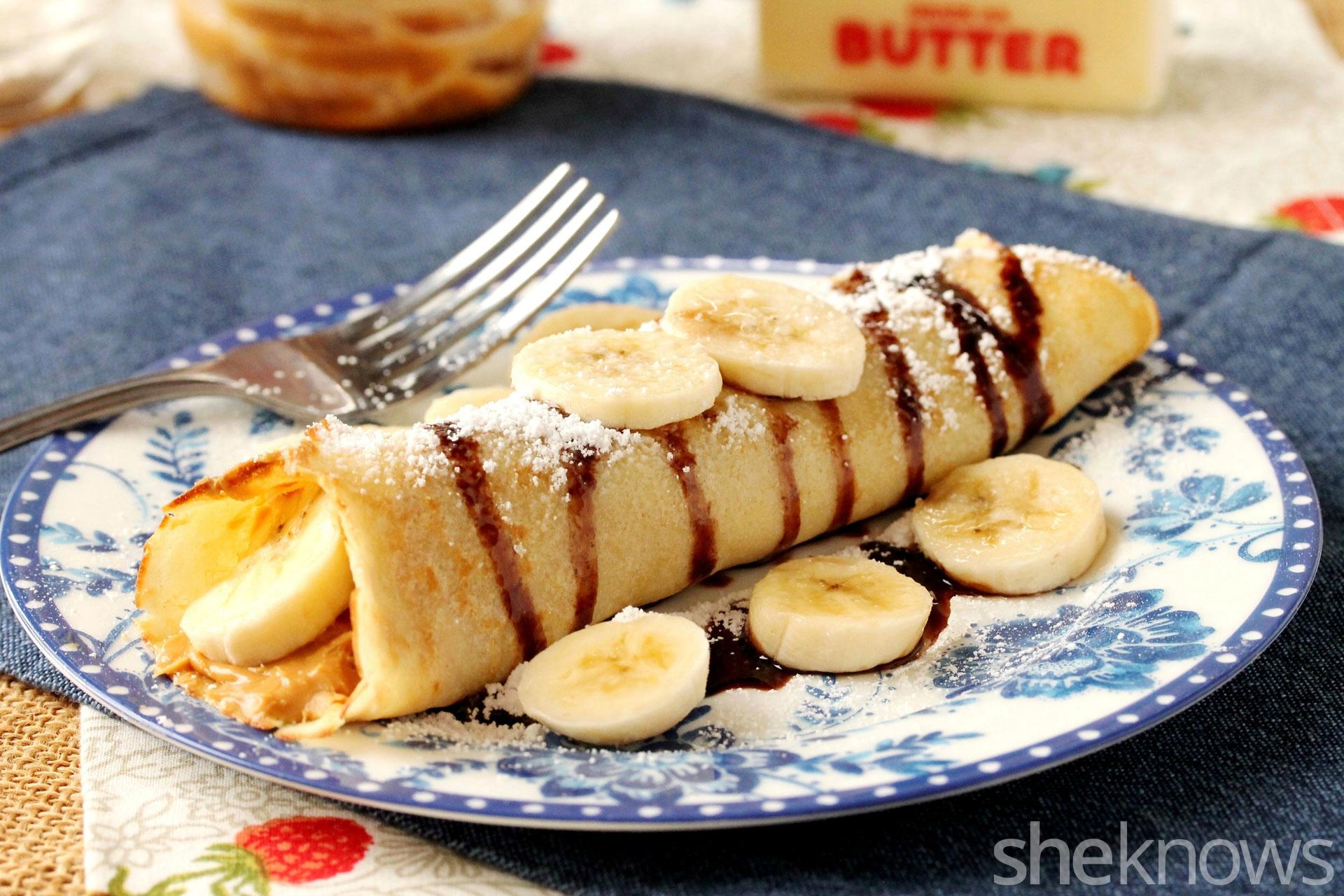 banana peanut butter crepe
