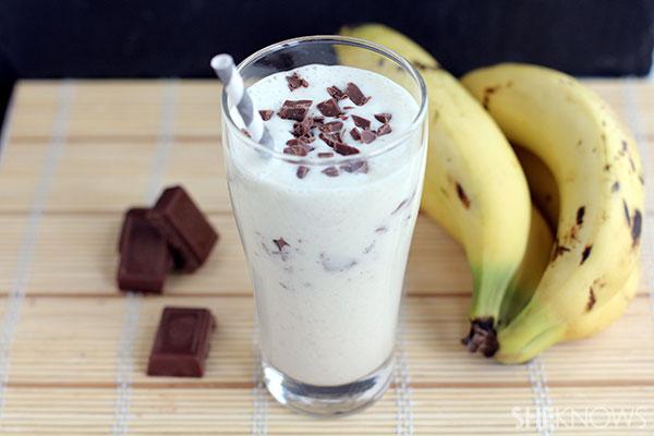 chocolate and banana milkshake