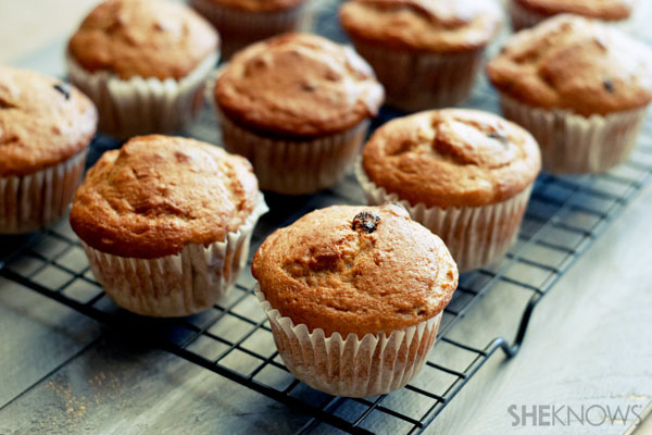 Flourless coconut banana muffins