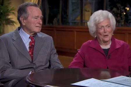 George Bush and Barbara Bush talk Sarah Palin