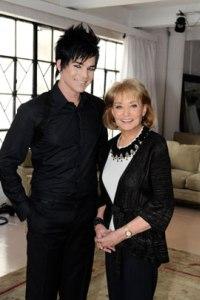 Adam Lambert visits Barbara Walters