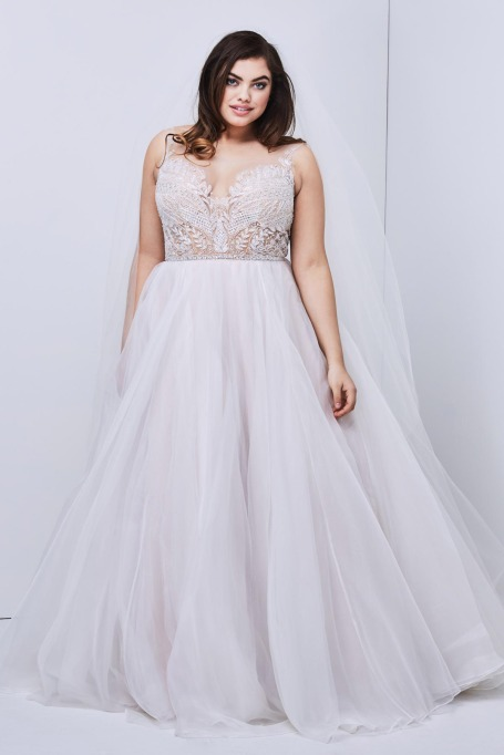 Plunging Back and Neckline Wedding Dress