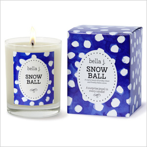 Snowball candle