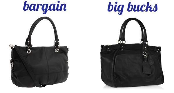 Bargain black handbags